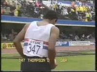 Daley Thompson World Championships 1983 Day 1