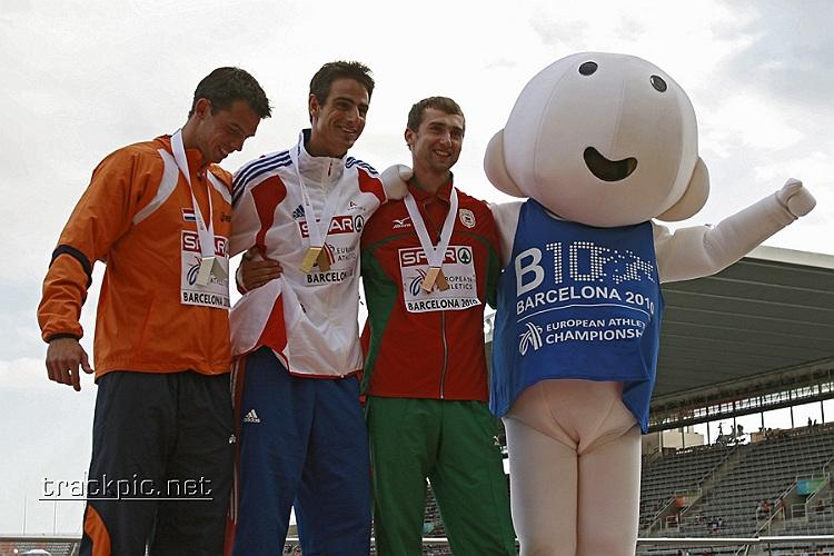 European Championships: Barcelona 2010 Podium