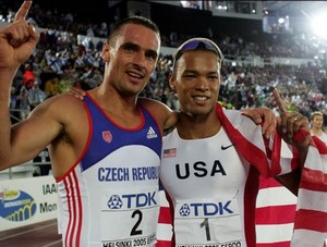 Roman Sebrle and Bryan Clay, World Champs 2005 in Helsinki.