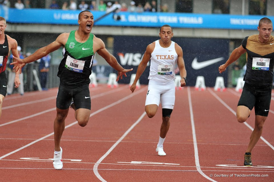 In steady rain new World best in 100m for Eaton - 10,21