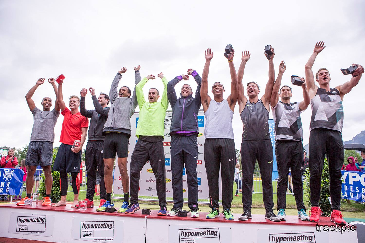 Hypomeeting Götzis 2016 Decathlon Podium - Photo by Olavi Kaljunen / trackpic.net