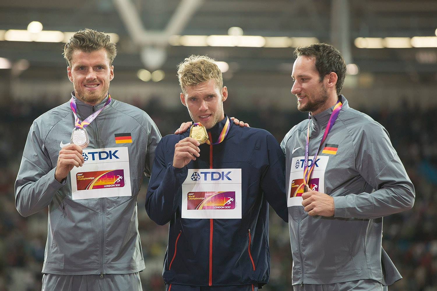 IAAF World Championships London 2017 - Decathlon Podium. Photo by Olavi Kaljunen/trackpic.net