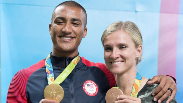 Ashton Eaton won decathlon gold at the Rio Olympics, while his wife, Brianne Theisen-Eaton, took heptathlon bronze. (Frank Gunn/ The Canadian Press)